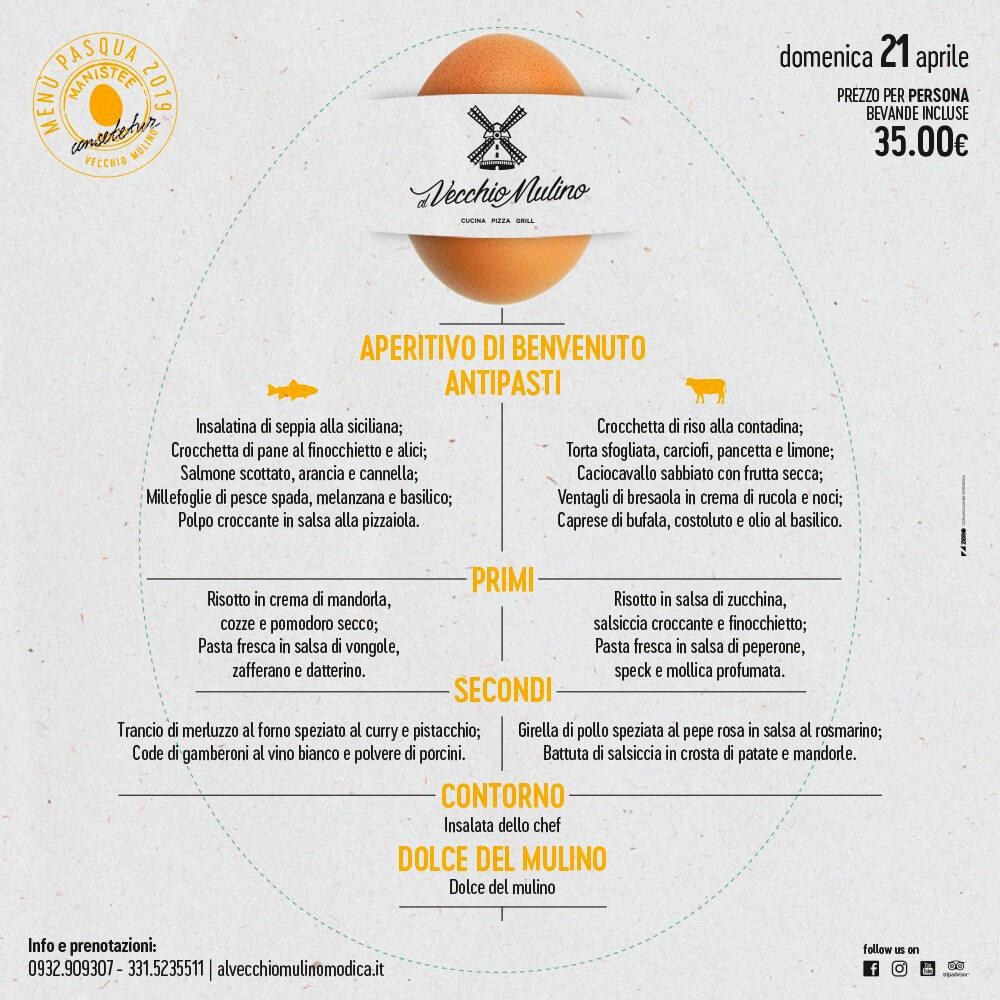 Menu Pasqua 2019 - Al Vecchio Mulino